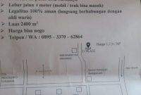 Tanah Dijual Lokasi Jalan Randegan Sari Driyorejo